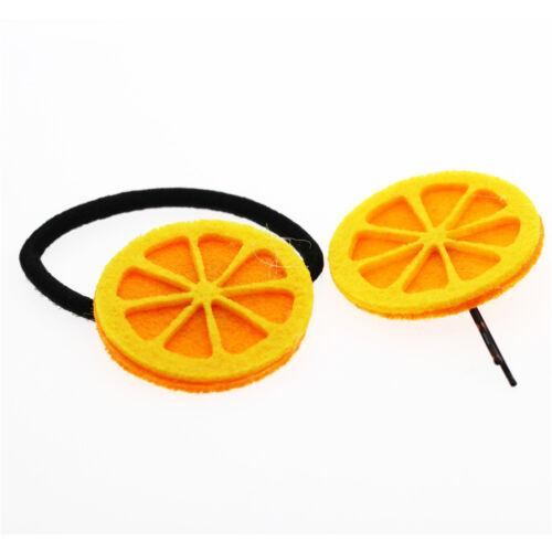 Rabbit Orange Watermelon Carrot Sunflower set of hair wrap bobble and pin HA312