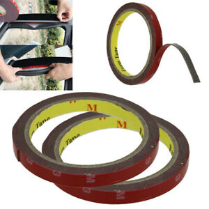 2pcs-3M-X-10MM-Auto-Car-Truck-Trim-Double-Sided-Molding-Adhesive-Acrylic-Tape-US