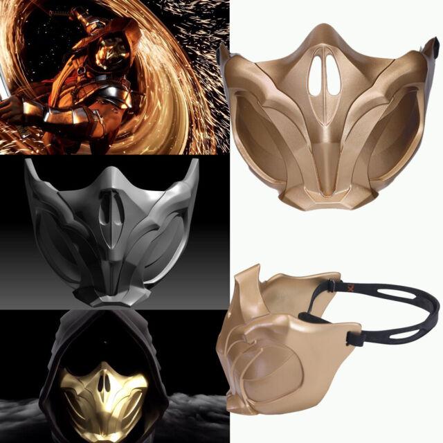 Mortal Kombat Mk11 Scorpion Mask Cosplay Costume Prop Replica Gold