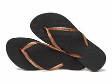 c3b0aa1f3375cd Havaianas Brazil Women Flip Flops Vary Colors Slim Metallic Logo Sandal All  Size