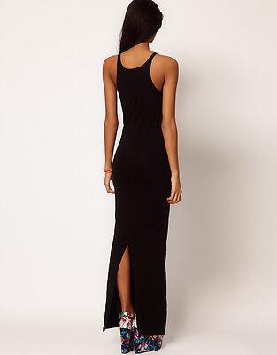 Damen Neu Strandkleid Sommerkleid BOHO Style Maxi Lange Kleid Stretch S-XL 335