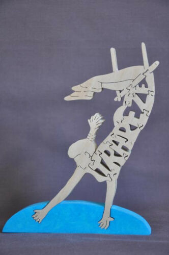 Male or Female Trapeze  Figurine Wooden Amish made Toy Puzzle Circus Performer