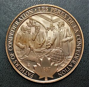1867 Fathers of Confederation: 1972 History of Canada Proof Bronze Medal