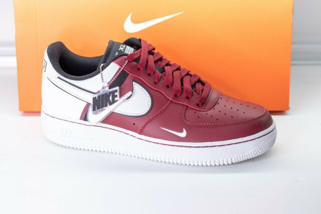 Nike Air Force 1 '07 LV8 2 Team Red/White Men's Shoes Size 9 [CI0061-600] W/ Box
