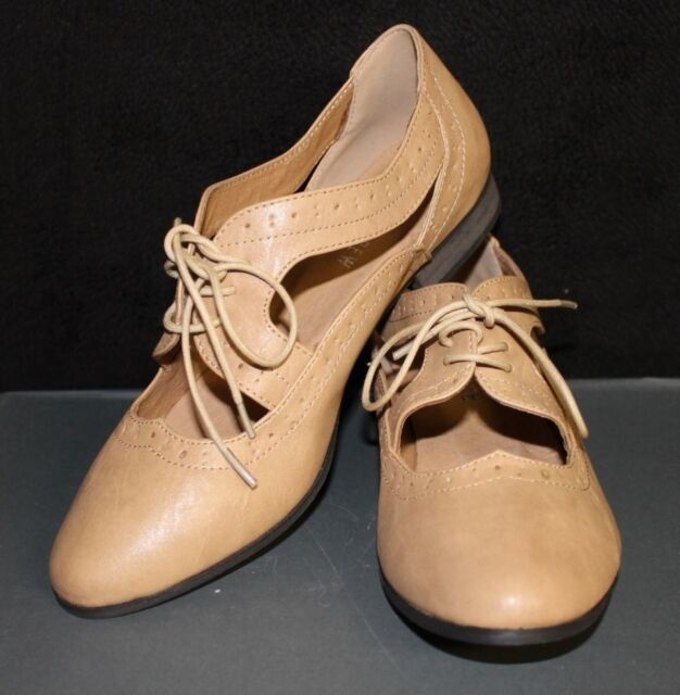 NEW Chelsea Crew Misty Cutout Oxford NUDE 71052-03 Women's Shoe Oxford Size 5