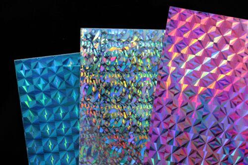 6 pcs 3 Colors 10X21cm Holographic Film Flash Fish Skin Jig Sticker Lure sticker