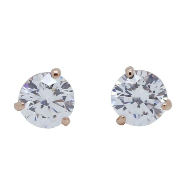 fd34fe7a4 Swarovski Solitaire Clear Crystal Rose Gold Plated Earrings 5112156