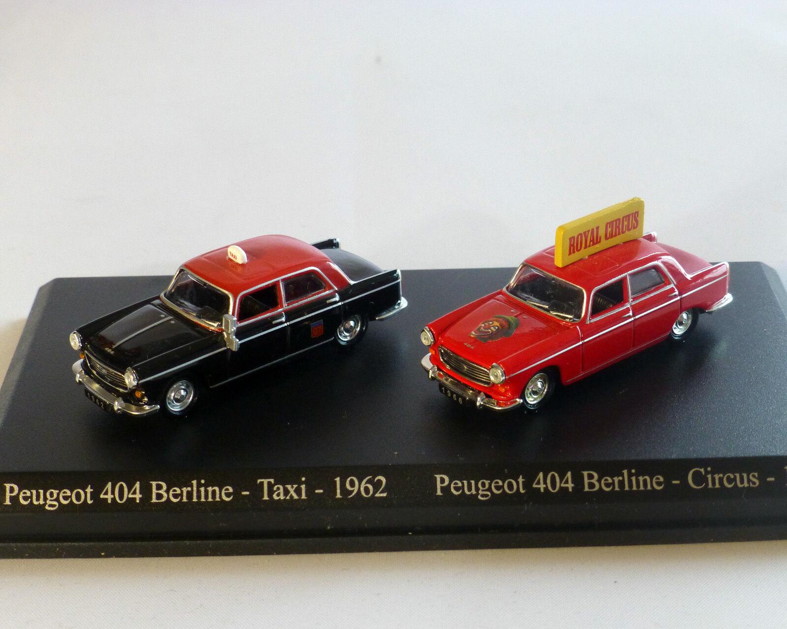 Peugeot 404 Set, Norev, 1 87