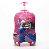 Girls Frozen 3d Carry-on Luggage Children Bag Pink 302-au