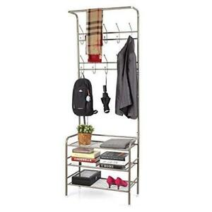 Image Is Loading Shelf Organizer Shoe Rack Hanging Clothes Hats Shoes