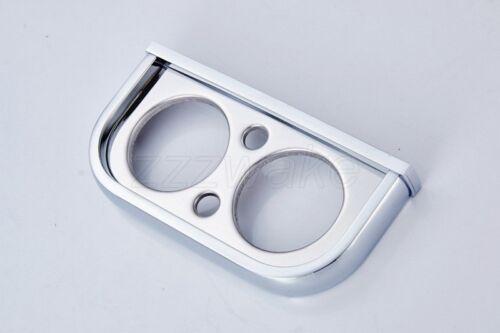 Cromo Pulido Doble de cerámica cuadrada Cepillo de dientes titular de Baño Accesorios