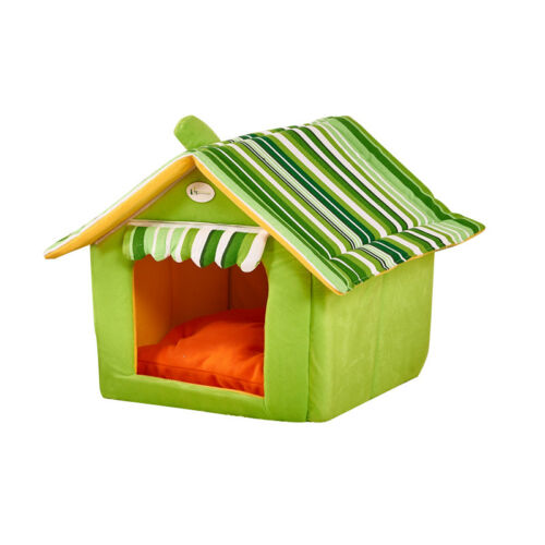 Indoor Pet Bed Dog Cats House Soft Warmer Comfortable Cat Dog Home Room GW
