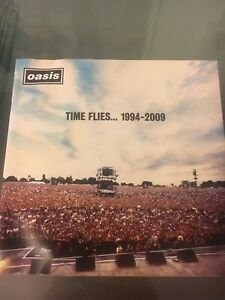 Oasis-Time-Flies-1994-2009-2-x-CD-ALBUM-very-Good-used-Condition