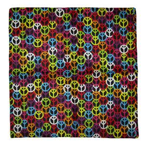 "Lot of 12 Tie Dye Peace Sign Swirls Blue Border 22/""x22/"" Cotton Bandanna"