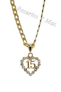7cd4c48dde2d Quinceañera Gold Filled Pendant with Necklace New Sweet 15 New | eBay
