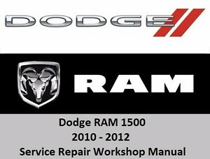 for dodge ram 2010 2012 1500 service repair workshop manual cd 3 7 rh ebay com 2010 dodge ram 1500 repair manual 2010 dodge ram 1500 haynes repair manual