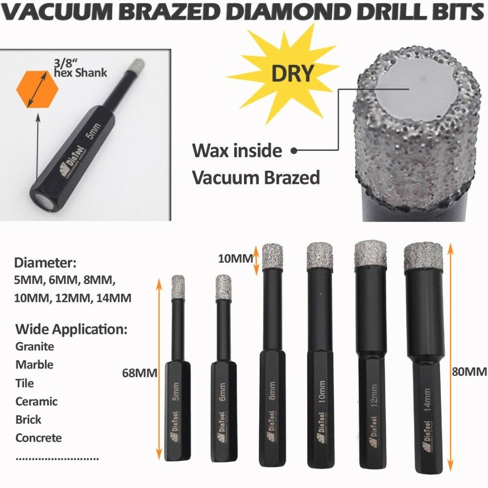 04925 Rubi Diamond Tile Drill Bit Kit 6.5mm For Porcelain