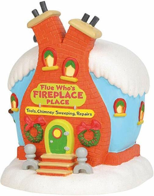 Department 56 Grinch Village Flue Who's Fireplace Place Building #6003319D NIB