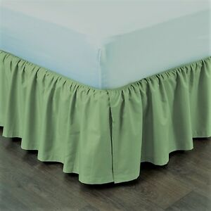 Details About Sage New 1pc 14 Drop Solid Plain Bed Skirt With Split Corners In All Sizes