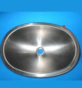 Image Is Loading 12 X 17 Oval Stainless Steel Sink Single