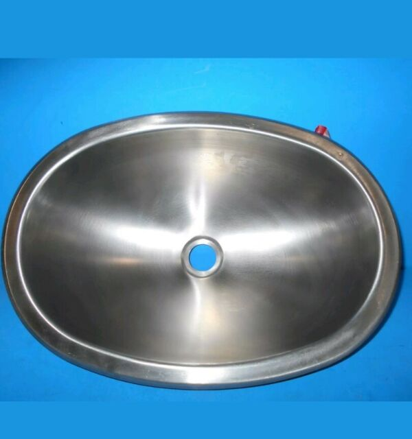 *12 X 17 OVAL STAINLESS STEEL SINK SINGLE BOWL RV SSOV 1217 22