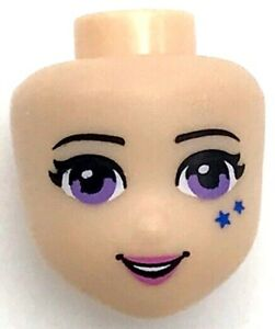 LEGO NEW FRIENDS GIRL FEMALE MINIFIGURE HEAD WITH GREEN EYES FRECKLES PIECE