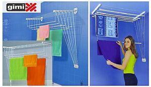 Stendibiancheria gimi lift 100 120 a parete o soffitto stendino salvaspazio ebay - Stendibiancheria da finestra ...