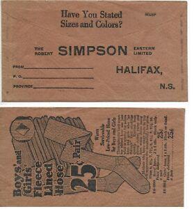Unused-Advertising-Cover-THE-ROBERT-SIMPSON-EASTERN-LIMITED-Halifax-N-S