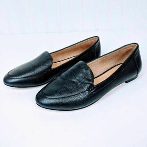 talbots womens casual loafer flat shoes black leather