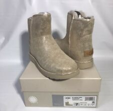 070f01cbc item 2 UGG ABREE MINI STARDUST GOLD SUEDE SHEARLING ANKLE BOOTS, US 7/ EUR  38 ~NIB -UGG ABREE MINI STARDUST GOLD SUEDE SHEARLING ANKLE BOOTS, US 7/  EUR 38 ~ ...