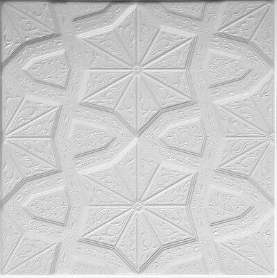 Polystyrene Decorative Glue Up Ceiling Tile Rm 86 24 Pcs 65sq Ft Cheap Ceiling Ebay