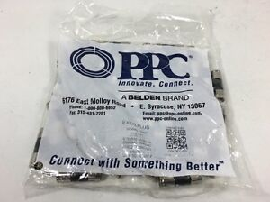 PPC EX6XLPLUS Compression RG6 Connectors 50ct - New - Free Shipping