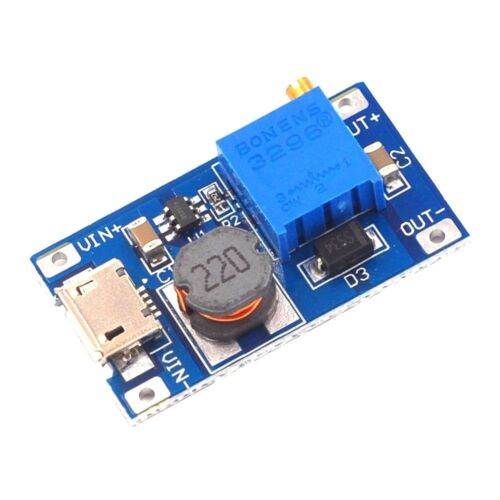2A Booster DC-DC Step-up 2//24V to 5//9//12//28V Micro USB MT3608 Replace XL6009