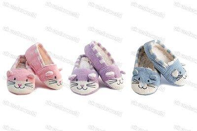 Chicas gato Zapatillas Para Niños Niños Novedad Zapatilla Pinza Calcetines Rosa-Lila-Azul