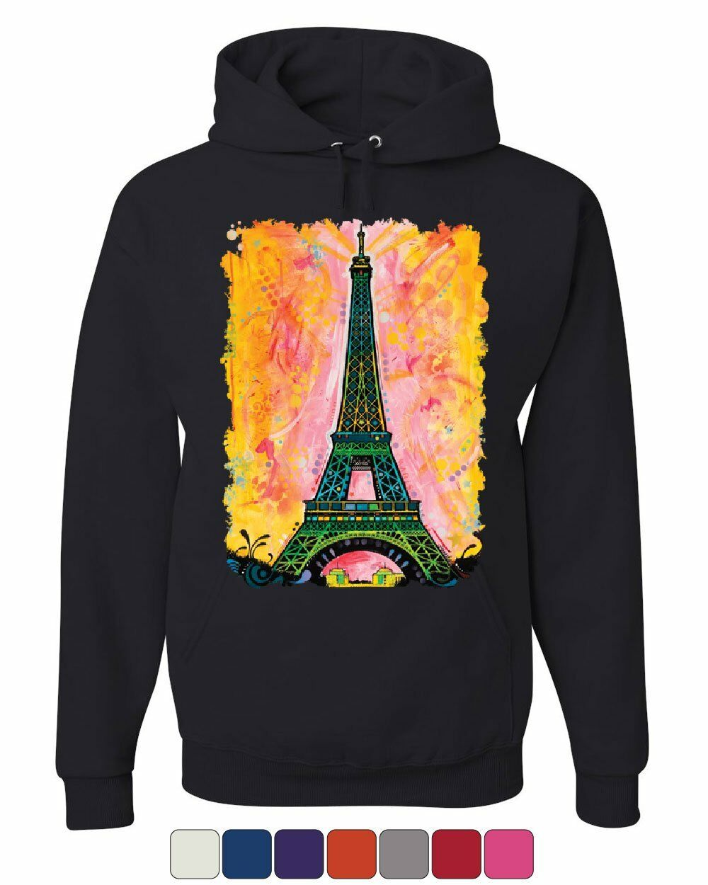 bfdbdd3b0b Eiffel Tower Hoodie Dean Russo Paris France Travel Europe EU Sweatshirt