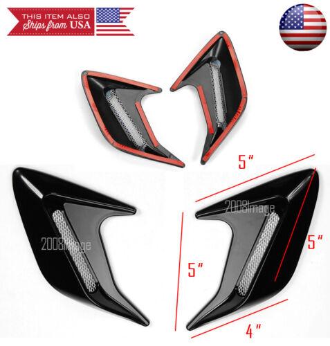 """2PC 5/"""" x5/"""" ABS Chrome Side Fender Intake Air Vent w// Mesh Insert For Hyundai Kia"""