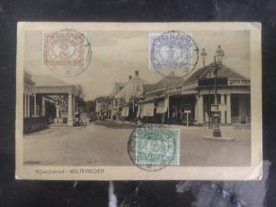 1921 Niederlande Indies Echt Picture Postkarte Abdeckung Rppc Weltevreden üBerlegene QualitäT In