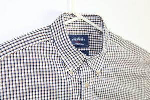 Charles-Tyrwhitt-Mens-Medium-Classic-Fit-Non-Iron-Casual-Button-Down-Shirt-EUC