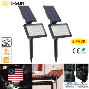 2-Pack-Solar-50-LED-Spot-Light-Outdoor-Garden-Landscape-Flood-Lamp-Waterproof