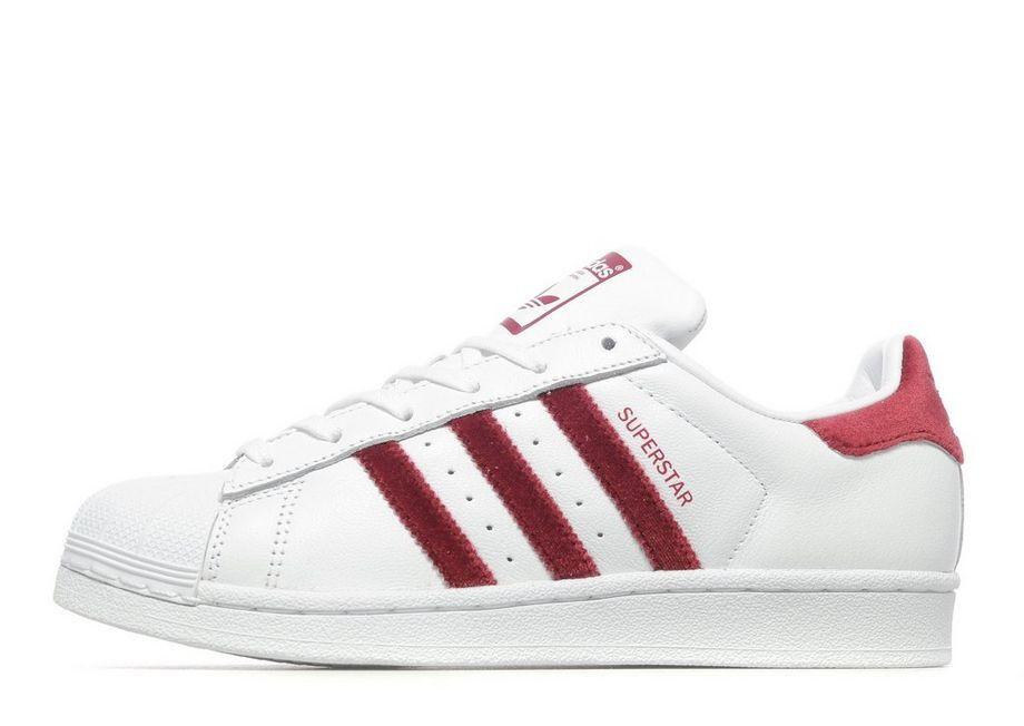 Adidas Adidas Adidas Originals Superstar Velvet blanco Leather & Burgundy (UK 6) BNIB  los clientes primero