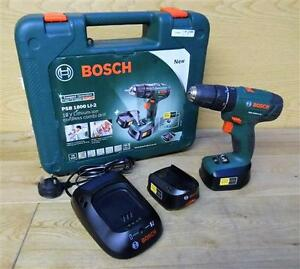 bosch psb 1800 li 2 cordless 18v combi hammer drill driver 2x batt no manual ebay. Black Bedroom Furniture Sets. Home Design Ideas