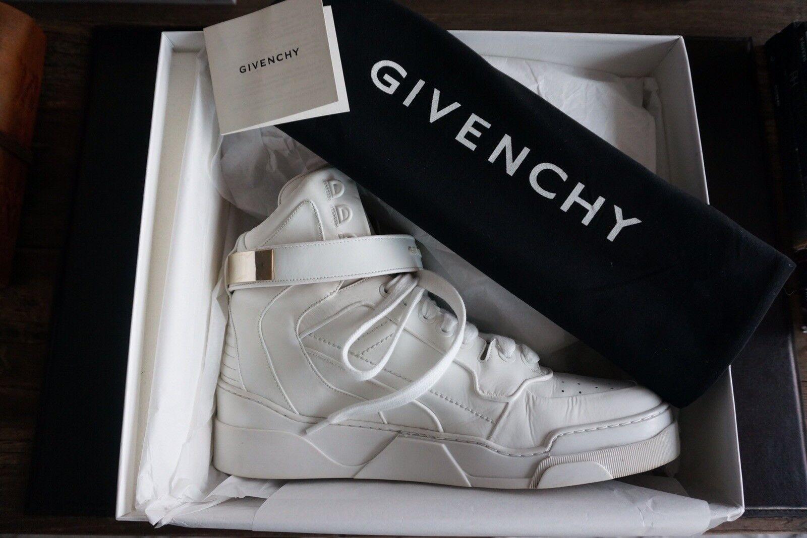 Men's Authentic Givenchy bianca Leather Hightop scarpe da ginnastica - Dimensione 45