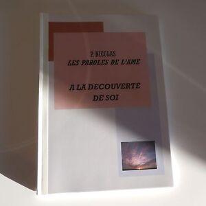 Manuscrit livre artiste Patrick NICOLAS LES PAROLES DE L'AME design PN France PN