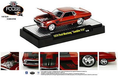M2 MACHINES 1:64 SCALE DIECAST METAL CHIP FOOSE SERIES GOLD 1970 FORD MUSTANG