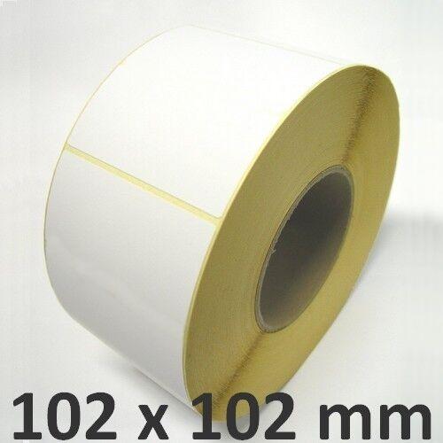 NEU ThermoEtiketten Zebra IndustrieDrucker 102x102 mm