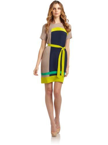 Bcbgmaxazria Louella color block dress XS Green Na