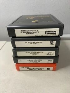 Greatest Hits Collection 8 Track Tape Lot Of 5 Cartridges Untested Vintage