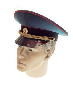 bac6f4cd3cc Russian Army Officer s Peaked сap statutory crown Military Hat ...