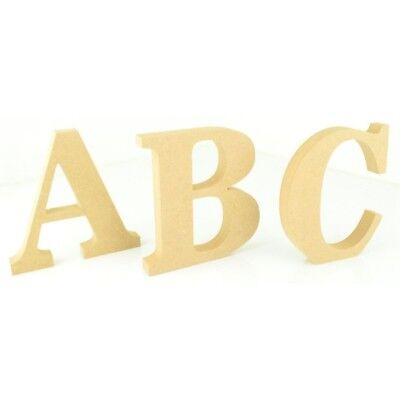Wooden Craft Alphabet A to Z Letters Shapes Laser Cut MDF 5mm Thickness Wood