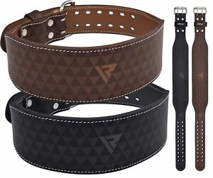 """Leather Weight Lifting Dipping Belt 6/"""" Lumber Back Support Fitness Gym Training"""